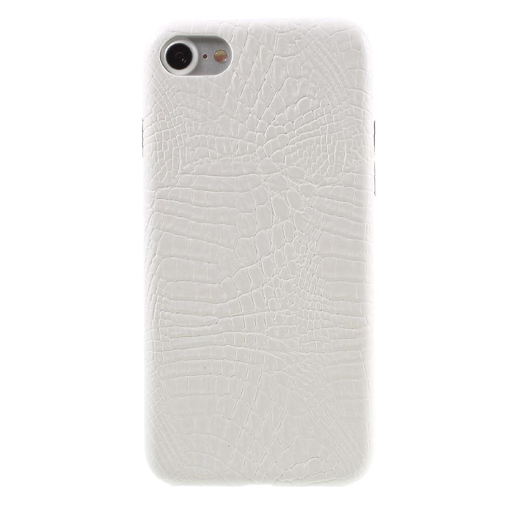 Apple iPhone 7/8 PU skinn Deksel - Hvit krokodille