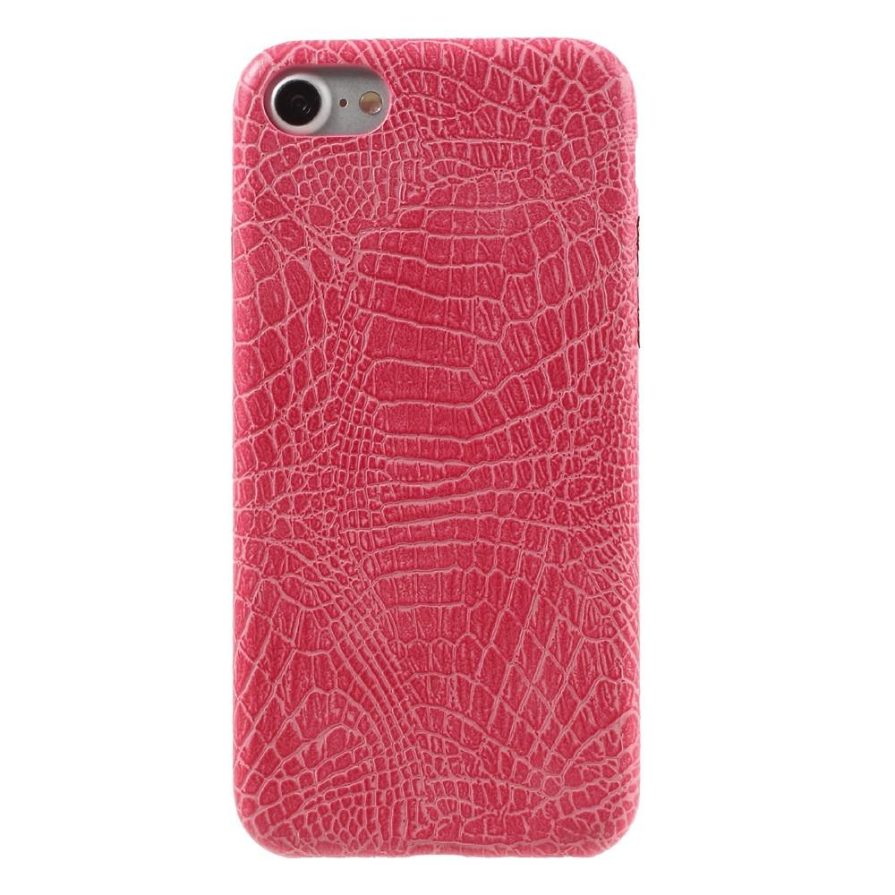 Apple iPhone 7/8 PU skinn Deksel - Rosa krokodille