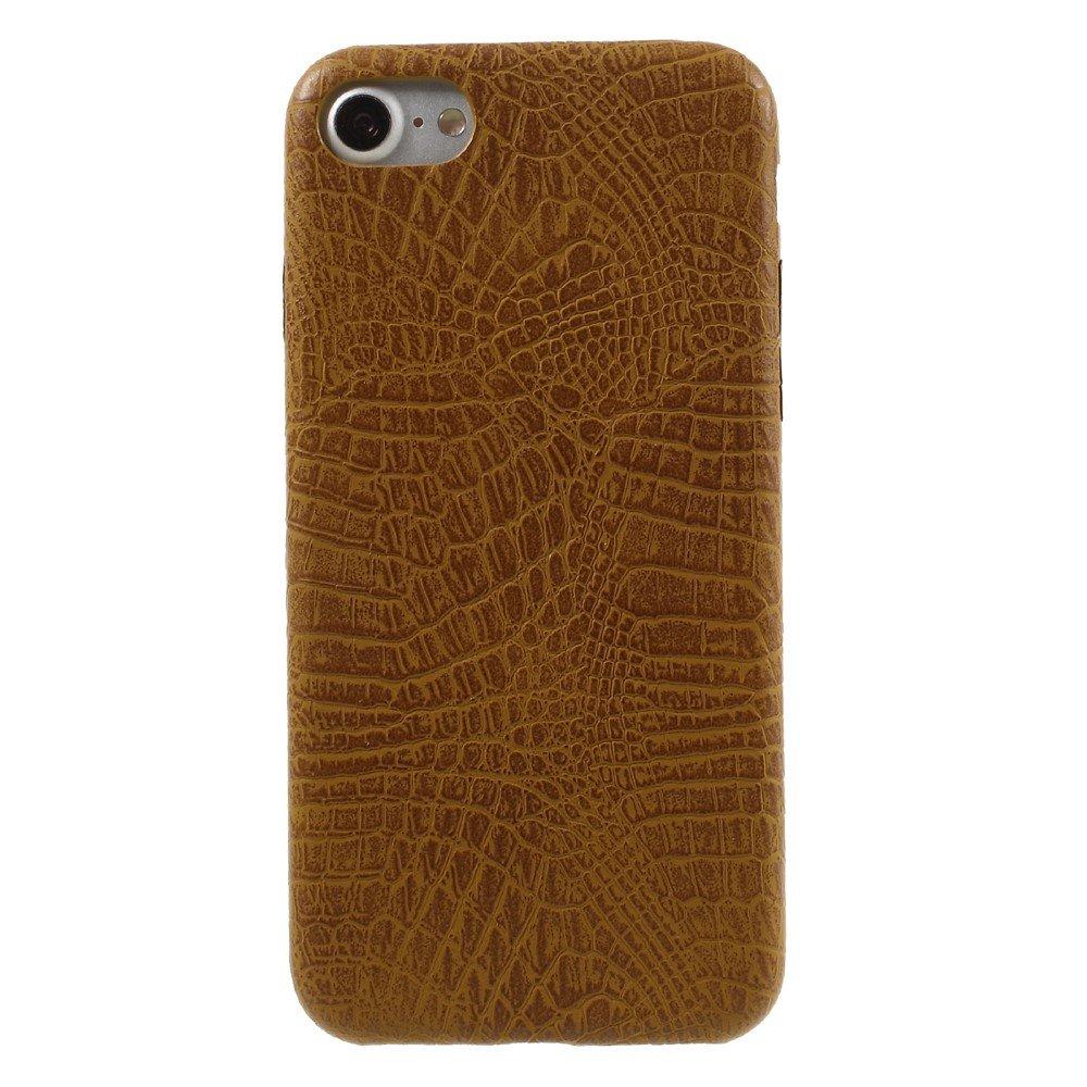 Apple iPhone 7/8 PU skinn Deksel - Brun krokodille