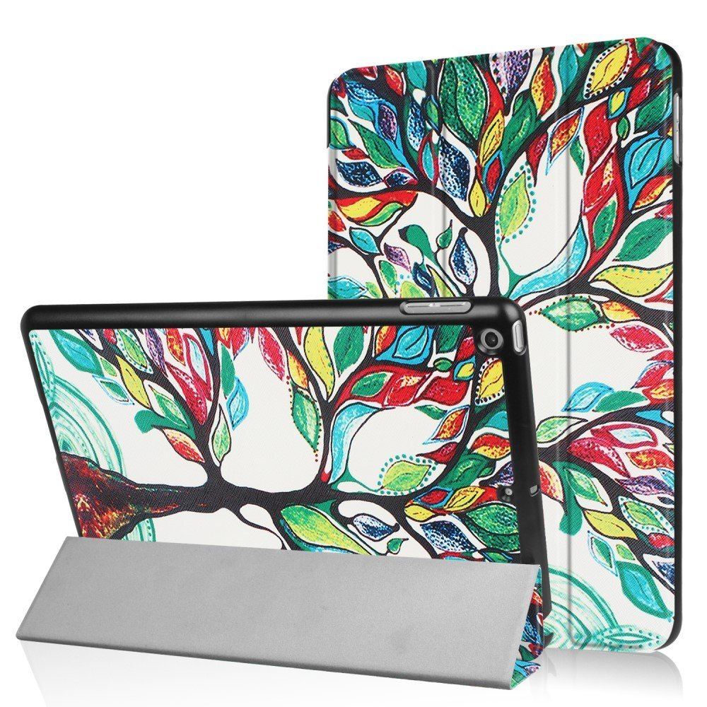 Apple iPad 9.7 2017/2018 Smart Deksel m. Stand - Colored Tree