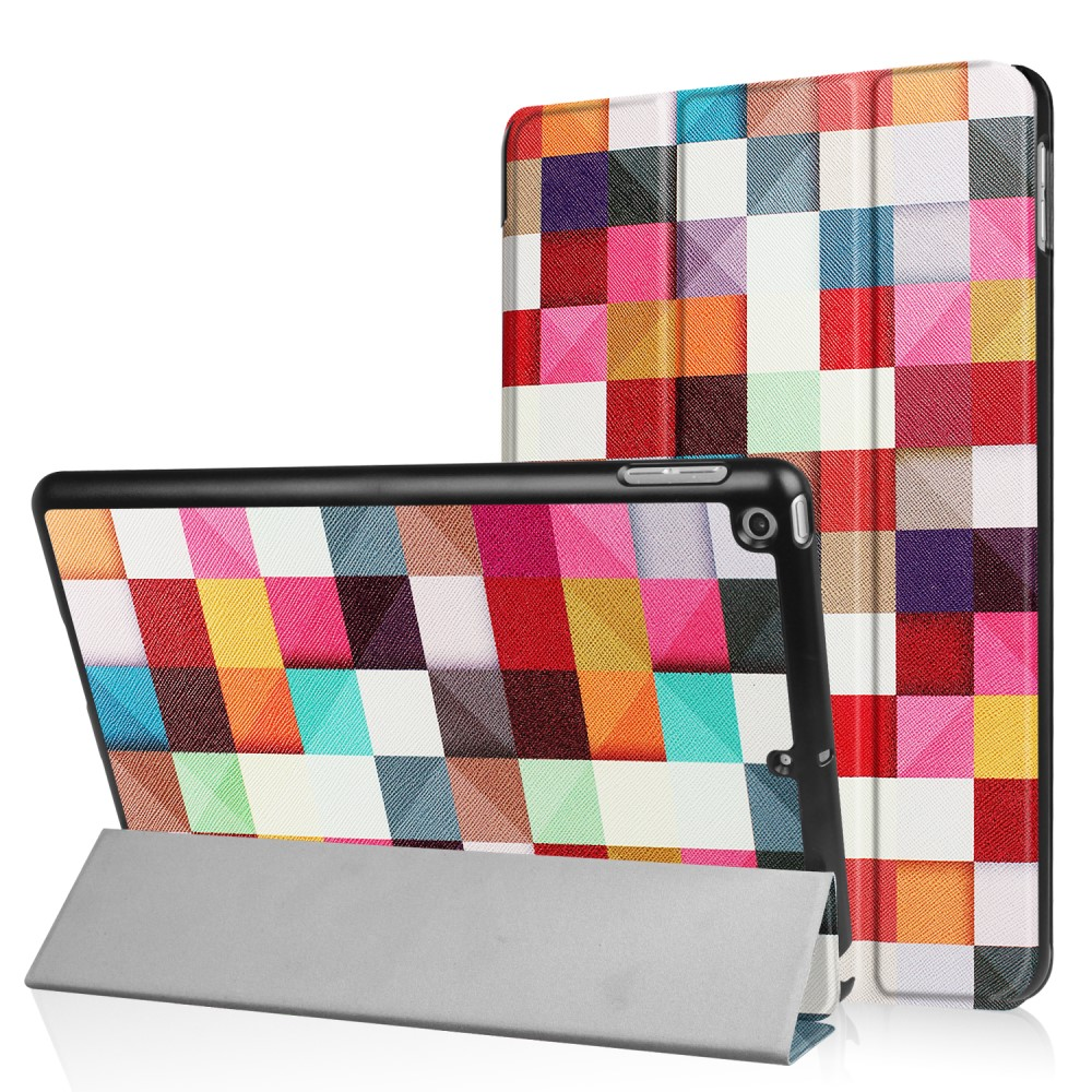 Apple iPad 9.7 2017/2018 Smart Deksel m. Stand - Colorful Cheakers
