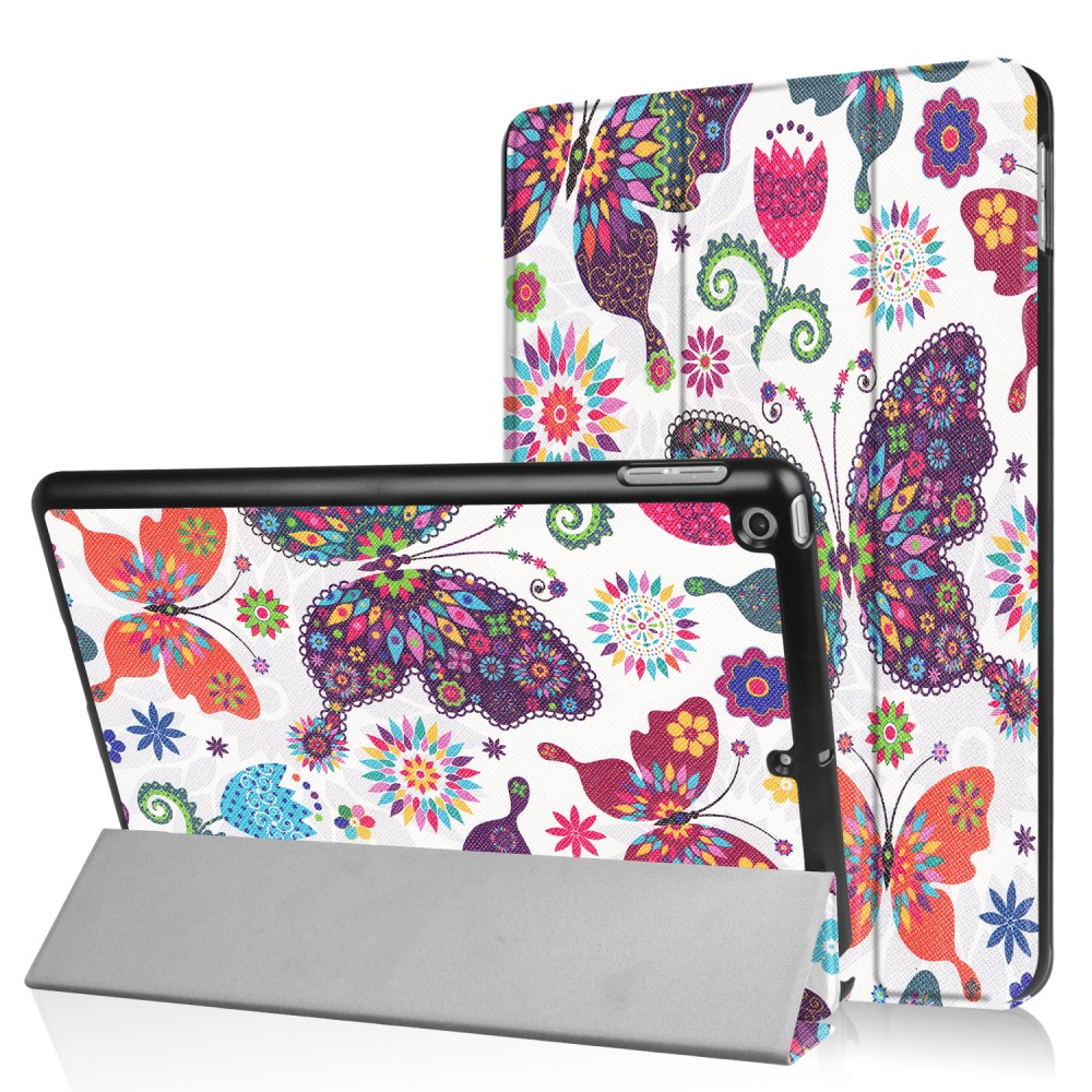Apple iPad 9.7 2017/2018 Smart Deksel m. Stand - Butterflies and Flowers