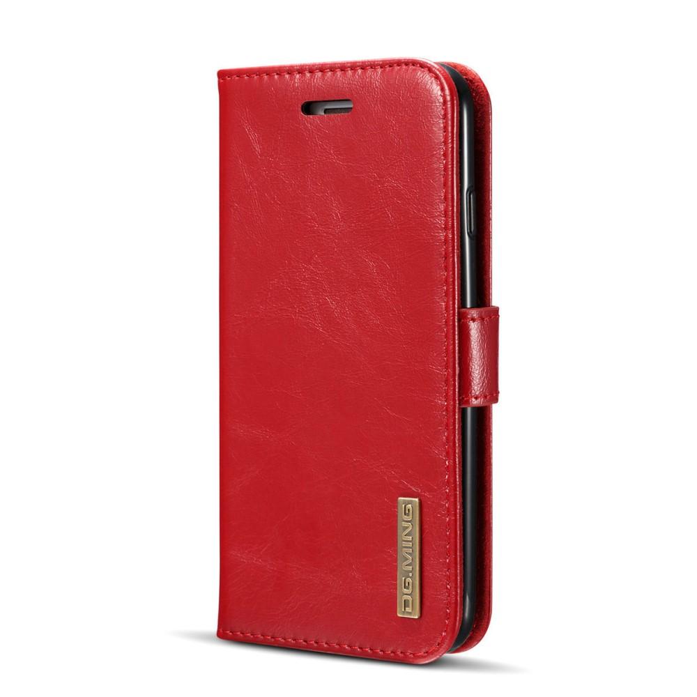 Apple iPhone 6/6s DG. MING 2 i 1 Flipcover i Ægte Læder - Rød
