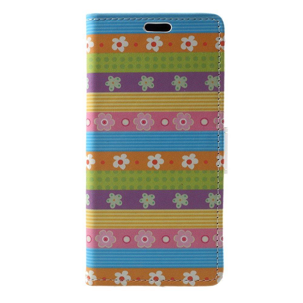 Apple iPhone X PU Skinn FlipDeksel m. Kortholder - Mønster 2
