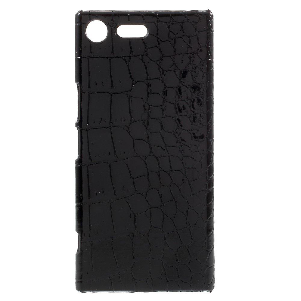 Sony Xperia XZ Premium Skinnbeklædt Plastikk Deksel - Svart Krokodille