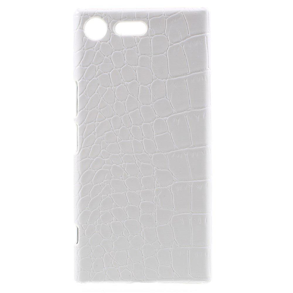 Sony Xperia XZ Premium Skinnbeklædt Plastikk Deksel - Hvit Krokodille