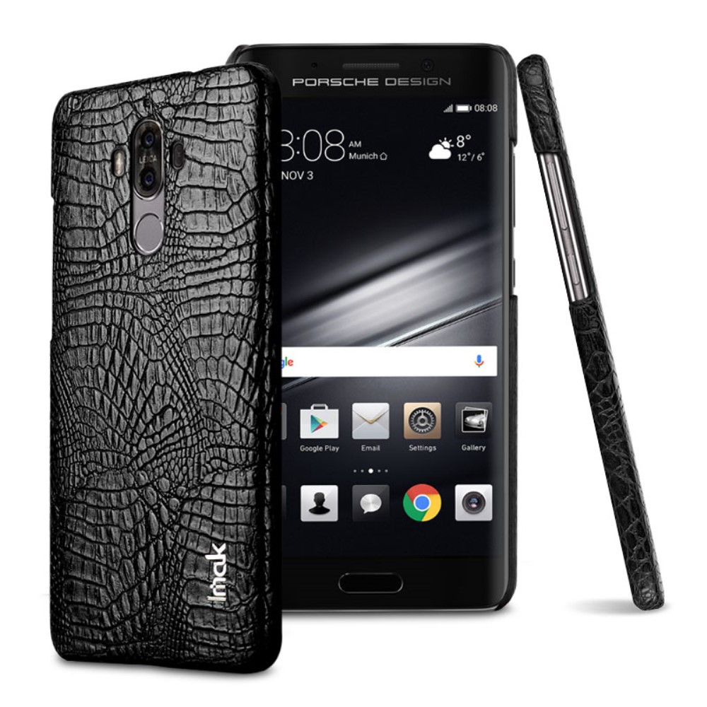 Huawei Mate 9 IMAK Plastikk Deksel m. PU Skinn - Svart Krokodille