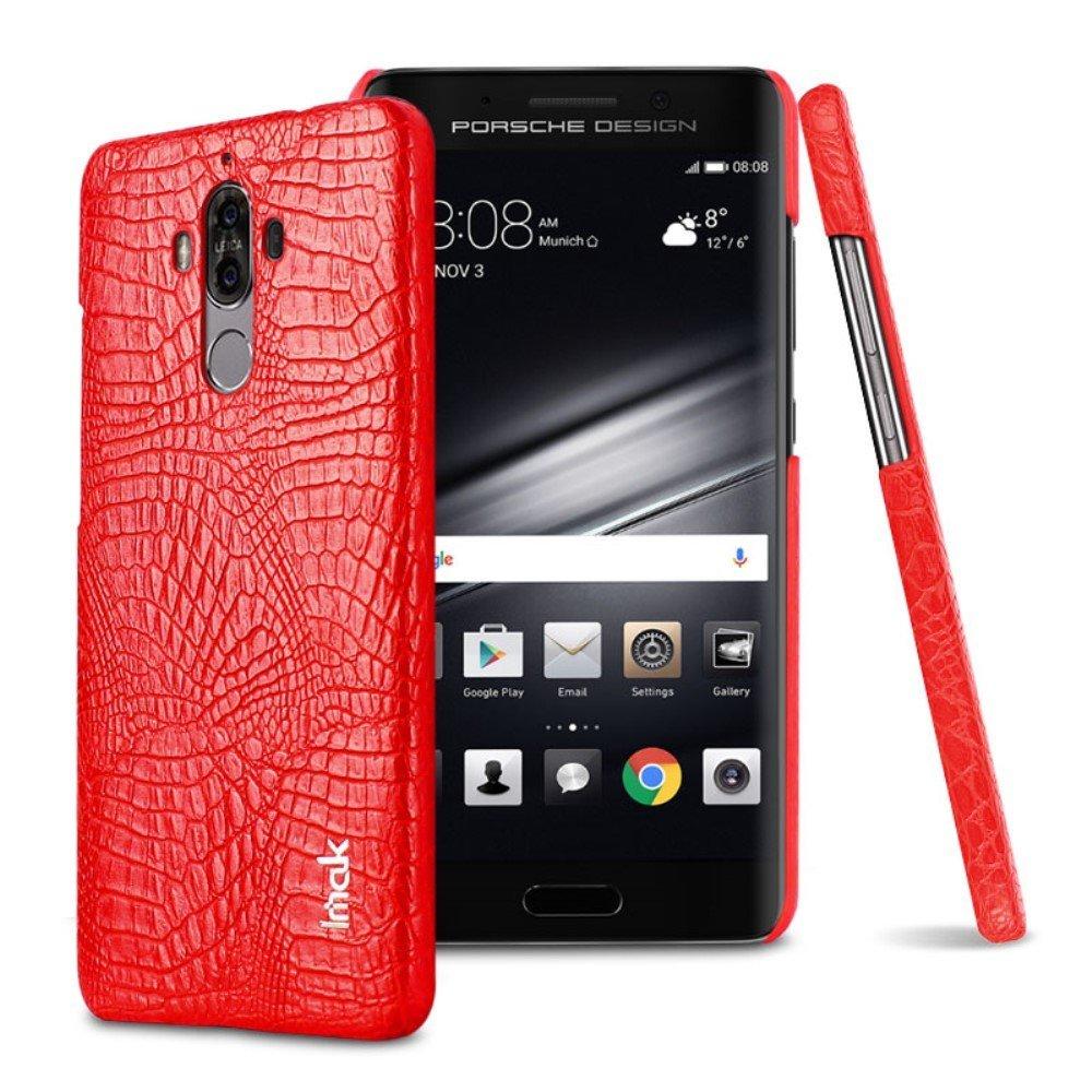 Huawei Mate 9 IMAK Plastikk Deksel m. PU Skinn - Rød Krokodille