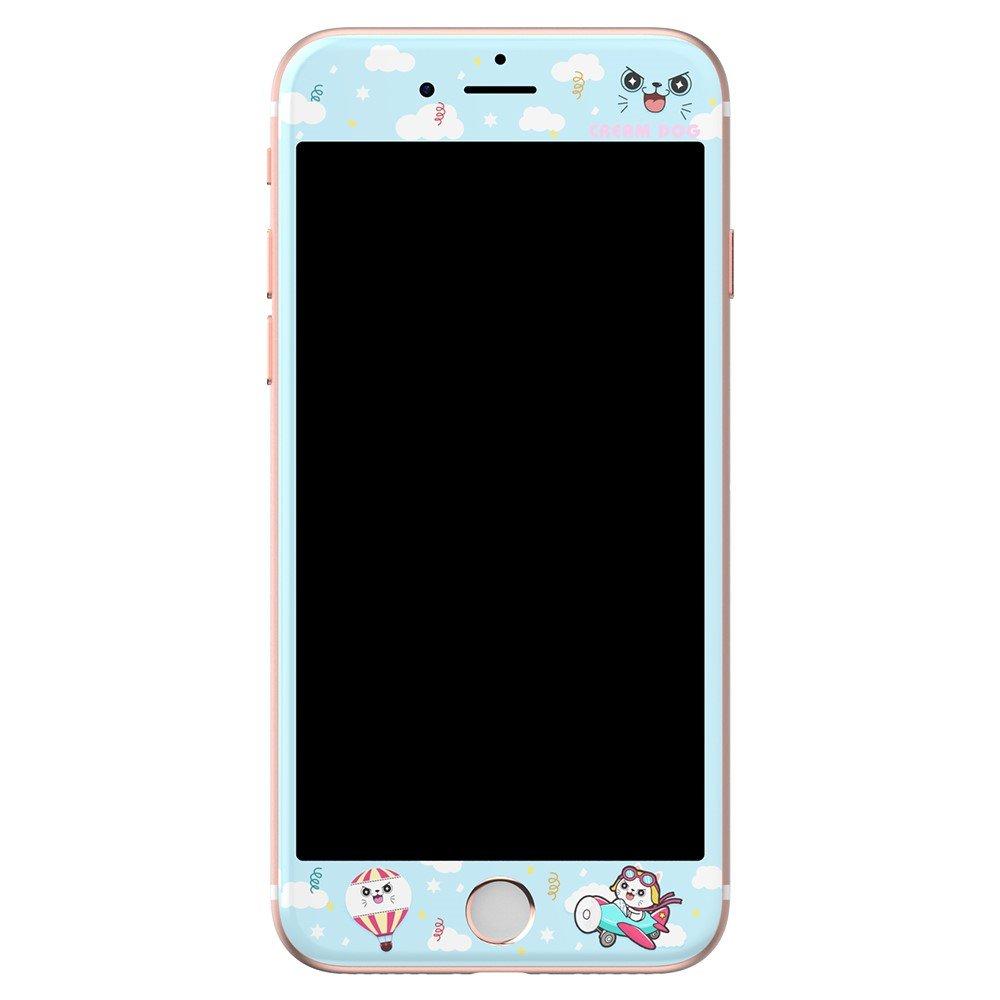 Apple iPhone 7 8 KINGXBAR Herdet Glass Skjermfilm - Blå m. Mønstre bcfd8e07861dd
