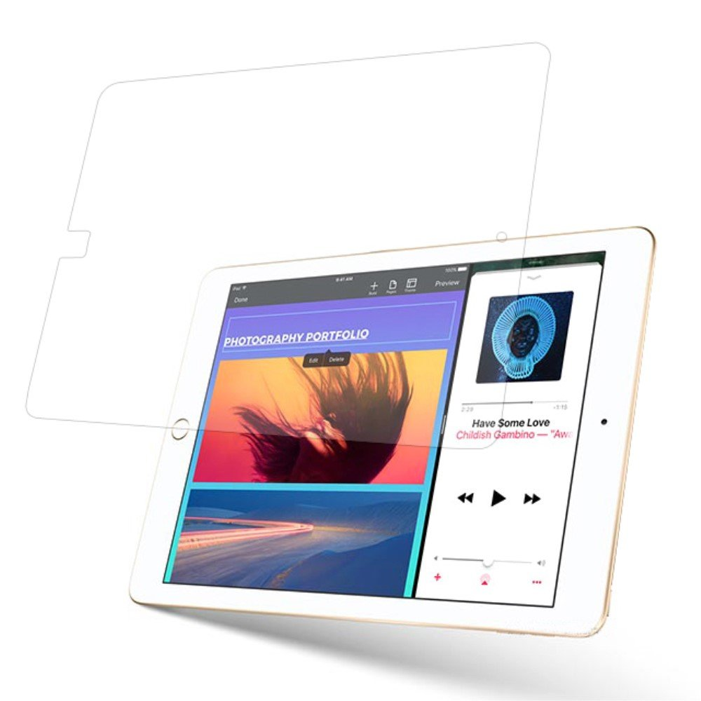 Apple iPad 9.7 2017/2018 PanserPro Herdet Glass Skjermfilm
