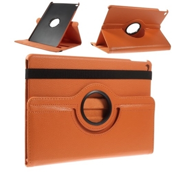 Apple iPad Air 2 Rotating Litchi Smart Deksel Stand - Oransje