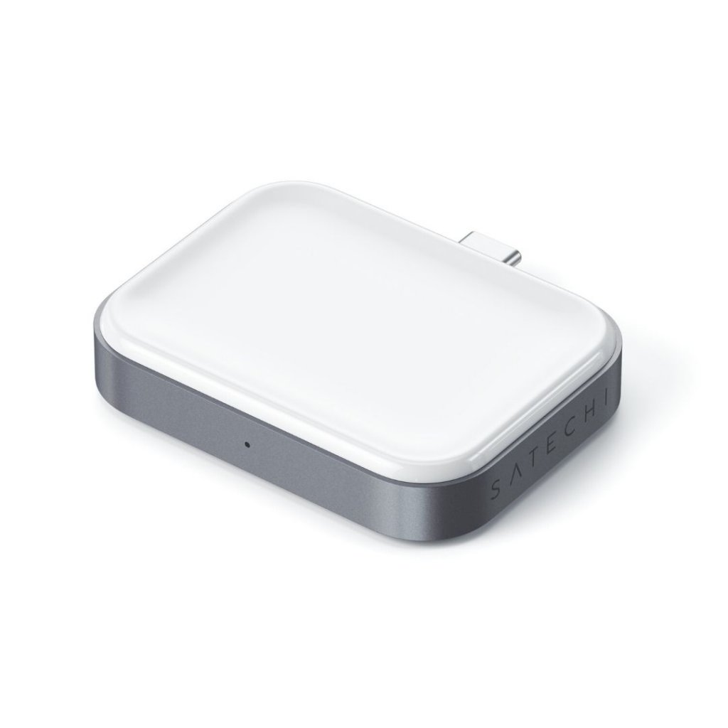 Satechi 5w Wireless Charging Dock Trådløs Lader Til Apple Airpods / Airpods Pro Lader - Hvit
