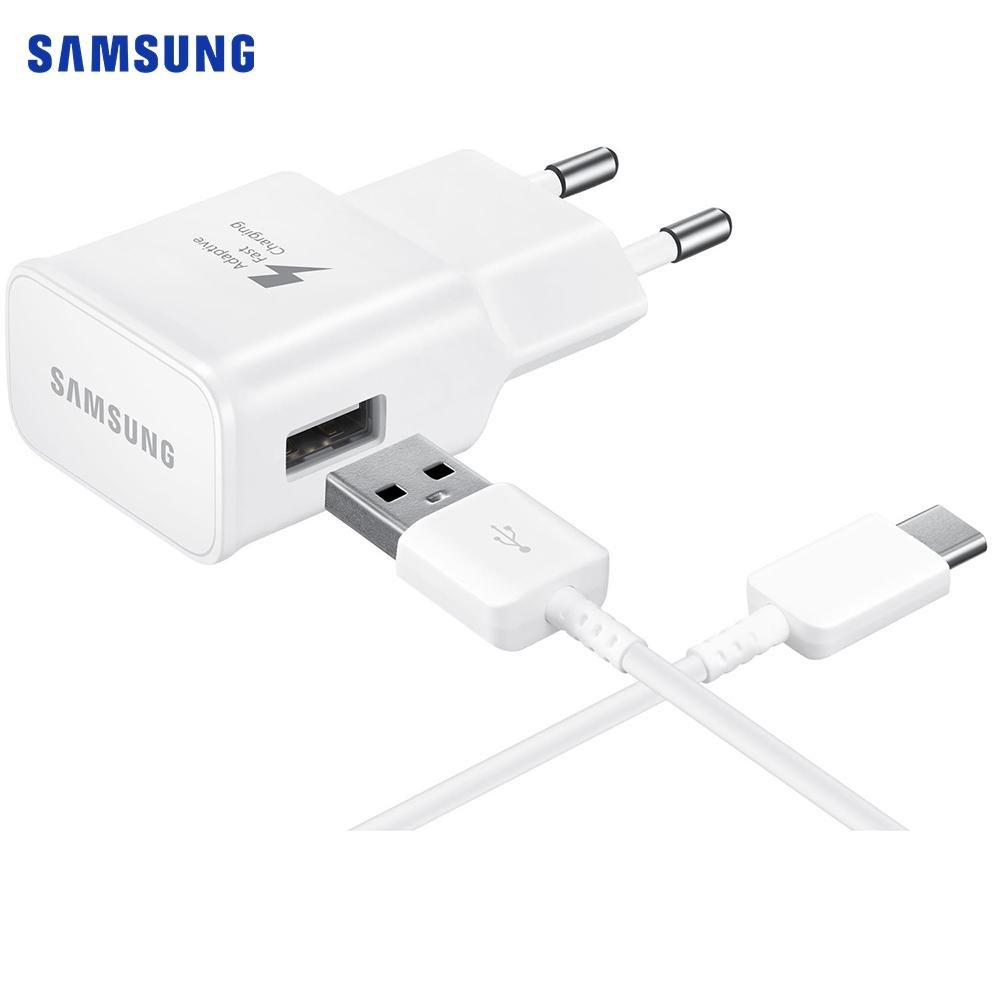 Samsung Original Samsung Travel Charger (Ep-Ta20ew) 15w M. Usb-C Kabel - Hvit