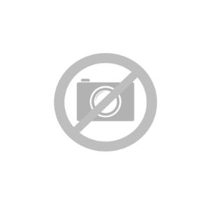iPhone 11 Solid Plastdeksel Belagt m. Skinn - Brun m. Svart Kant
