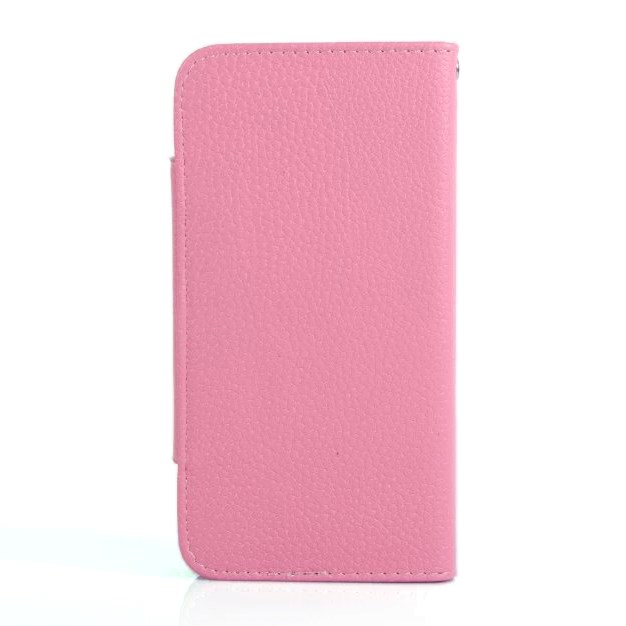 Apple iPhone 6/6s skinn Deksel m. Kortholder - Pink