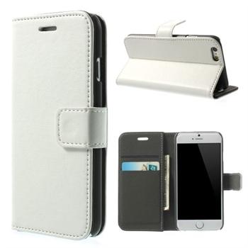 Apple iPhone 6/6s Deluxe Flip Deksel Med Lommebok - Hvit