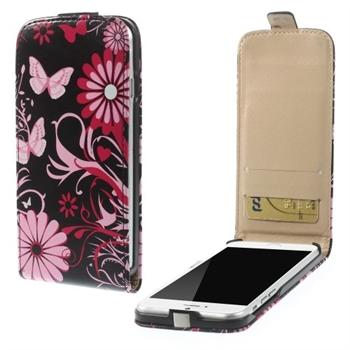 Apple iPhone 6/6s Design Flip Deksel - Butterfly Flowers