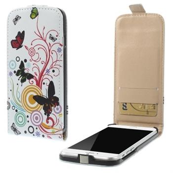Apple iPhone 6/6s Design Flip Deksel - Vivid Butterflies