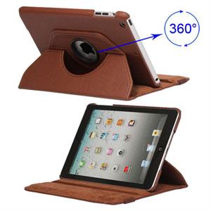 Rotating Smart Deksel Stand Til iPad Mini - Brun