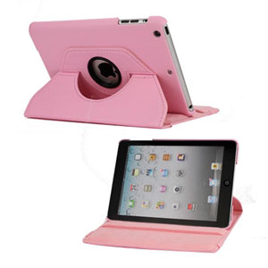 Rotating Smart Deksel Stand Til iPad Mini - Rosa