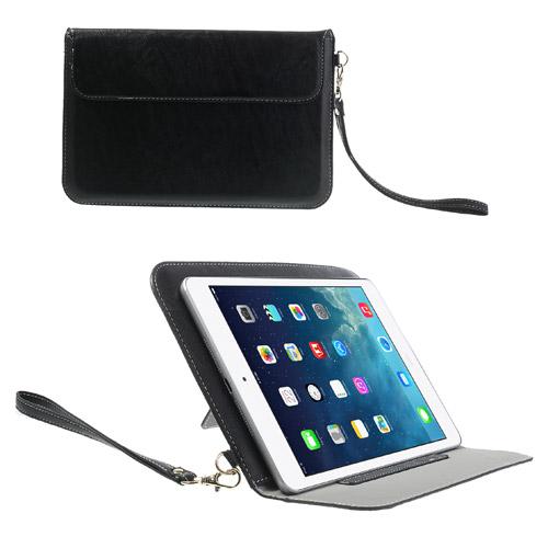 iPad Mini skinn Etui/Taske m. Stand - Svart
