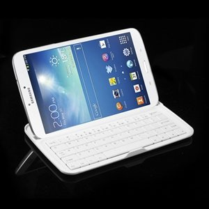 Bluetooth Tastatur I Aluminium Til Samsung Galaxy Tab 3 8.0 - Hvit