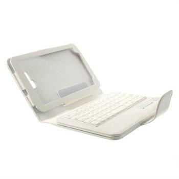 SkinnEtui Med Bluetooth Tastatur Til Samsung Galaxy Tab 3 Lite - Hvit