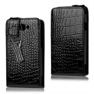 Samsung Galaxy R Etui - Svart krokodille