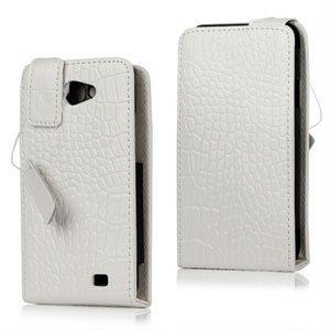 Samsung Galaxy R Etui - Hvit krokodille