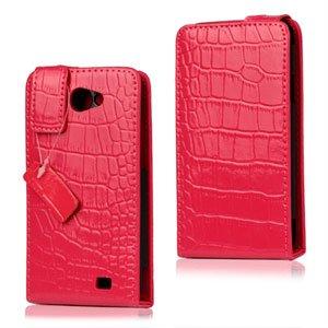 Samsung Galaxy R Etui - violet krokodille