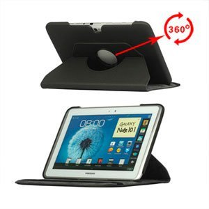 inCover Rotating Smart Deksel Stand Til Samsung Galaxy Note 10.1 - Svart