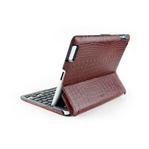 ZAGGfolio for Apple iPad 3 og 4 Krokodille Skinn Med sølv tastatur